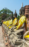 Statue of buddha at Wat Yai Chaimongkol royalty free stock images