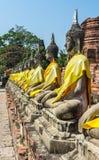 Statue of buddha at Wat Yai Chaimongkol Royalty Free Stock Images