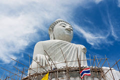 Statue buddhism construction Royalty Free Stock Photos