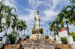 Statue of the Buddhist Goddess of Mercy in the mountains Royalty Free Stock Photo
