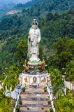 Statue of the Buddhist Goddess of Mercy in the mountains Stock Image