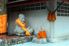 Statue of Buddhist monk Stock Images