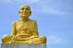 Statue of  Buddhist monks Royalty Free Stock Images