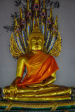 Statue At buddhist temple in bangkok Royalty Free Stock Photos