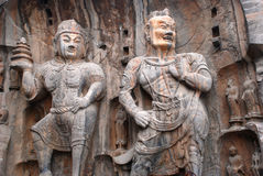 Statue buddisti di pietra dei guerrieri Fotografie Stock