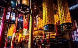 Statue buddisti di SHANGHAI a Jade Buddha Temple Immagine Stock Libera da Diritti