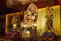 Statue buddisti divertenti a Singapore Fotografie Stock Libere da Diritti