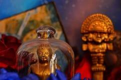 Statue buddisti variopinte Fotografie Stock