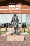 Statue of Buffalo Bill at the Center of the West Stock Photo