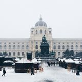 Statue + building. Taken in Vienna stock image