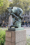 Statue of a bull in Barcelona Stock Image