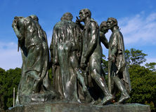 Statue Burghers in Calais Stockfoto