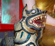 Statue of a burmese temple. A Statue in a burmese temple Royalty Free Stock Photo