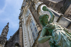 Statue at Bussaco Palace, Portugal Stock Image