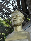 Statue , bust of Eiffel. Statue of the famous designer of the Eiffel Tower Royalty Free Stock Image