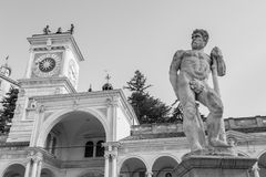 Statue of Caco,Black and White Royalty Free Stock Photo