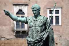 Statue CAESAR Augustus PATRIAE PATER, Rome, Italy Royalty Free Stock Photography