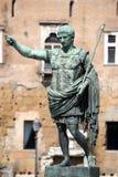 Statue CAESAR Augustus PATRIAE PATER, Rome, Italy Royalty Free Stock Image