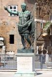Statue CAESAR Augustus PATRIAE PATER, Rome, Italy Royalty Free Stock Photos