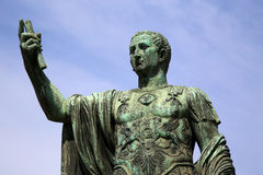 Statue CAESARI NERVAE Augustus, Rom, Italien Stockfoto
