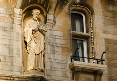 Statue at Cambridge University Stock Photos
