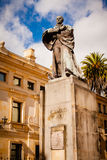 Statue of Camilo Torres in bogota colombia Royalty Free Stock Photo