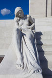 Statue in the Canadian National Vimy Memorial Stock Photo