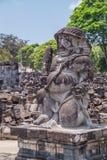Statue in Candi Sewu, part of Prambanan Hindu temple,  Indonesia Stock Photo