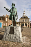 Statue of Captain George Vancouver. RN sited in Kings Lynn England Stock Images