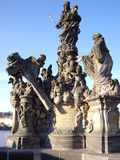 Statue on Carl´s Bridge Royalty Free Stock Images