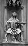 Statue at the Carl's Bridge in Prague, Czech Republic Stock Photos