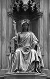 Statue at the Carl's Bridge in Prague, Czech Republic Stock Photography