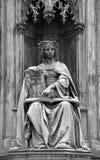 Statue at the Carl's Bridge in Prague, Czech Republic Stock Image