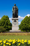 Statue of Carl XIV. Norrkoping, Sweden Stock Photos