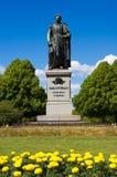Statue of Carl XIV. Norrkoping, Sweden. Bronze statue of Carl XIV Johan in Norrkoping. Ostergotland, Sweden Stock Photos