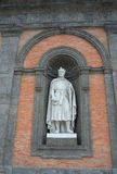 Statue of Carlo I d`Angio on the facade of Royal Palace in Naple Royalty Free Stock Photography