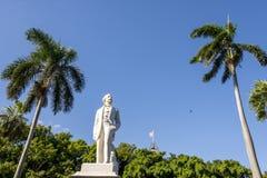 Statue of Carlos Manuel de Cspedes - Old Havana Cuba. Statue of Carlos Manuel de Cspedes, Plaza de Armas, Old Havana La Habana Vieja, Cuba, Caribbean Sea royalty free stock photos