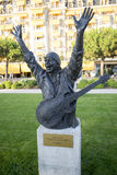 Statue of Carlos Santana in Montreux Stock Image