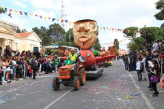 Statue on Carnival Procession. Royalty Free Stock Image