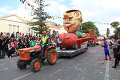 Statue on Carnival Procession. Royalty Free Stock Photography