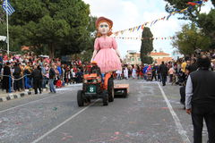 Statue on Carnival Procession. Royalty Free Stock Images