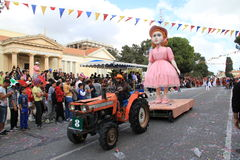 Statue on Carnival Procession. Royalty Free Stock Photos
