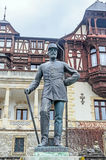 The statue of Carol First of Romania situated at the Peles Castle from Sinaia Royalty Free Stock Image