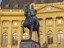 Statue of carol on the horse from Bucharest Royalty Free Stock Photography