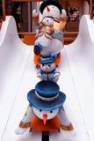statue 1881 carrée de bonhomme de neige d'héritage Photographie stock libre de droits