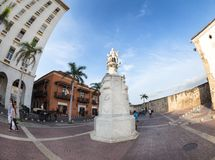Statue in Cartagena Stockbild