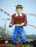Statue of cartoon character Alfred E Neuman,  MI Royalty Free Stock Images