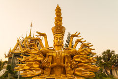 Statue carved gold paint Royalty Free Stock Photography