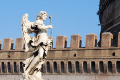 Statue in Castel Sant'Angelo. Angel statue in Castel Sant'Angelo, Rome, Italy Stock Image