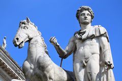 Statue of Castor in Rome, Italy Stock Image